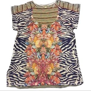 LIVE AND LET LIVE MULTI-COLOR SEASHELL BLOUSE